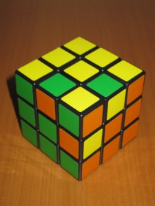 3-sides of a Rubik's Cube